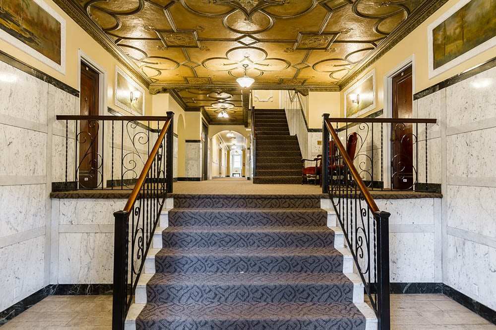 Great hall at Barrington Apartments in Rochester, New York