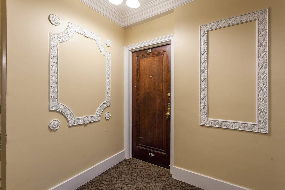 Entry in apartment at Barrington Apartments in Rochester, New York