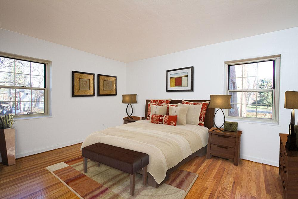 Master bedroom at Brighton Gardens in Rochester, New York