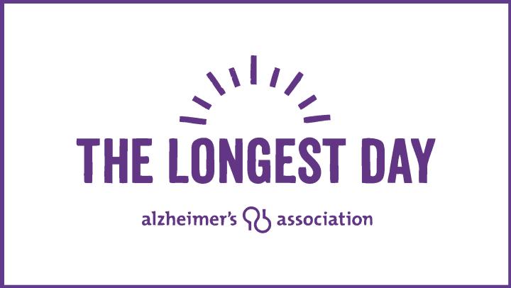 The Longest Day Purple Logo on white background