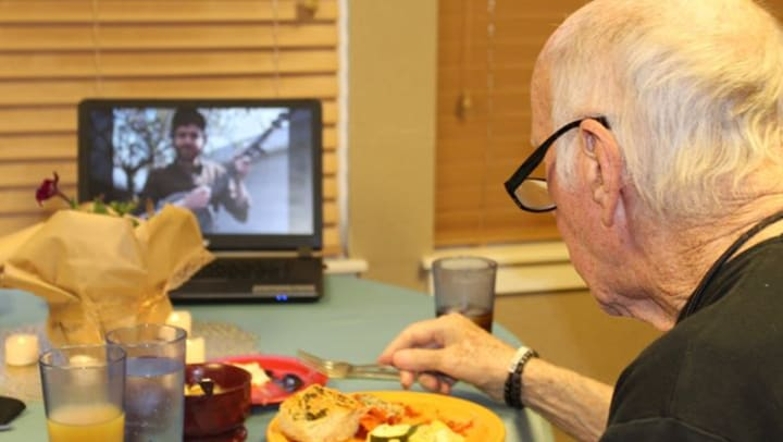 Virtual dining for memory care residents Chelsea Place
