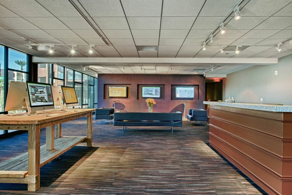 Luxury community business center at Domus in Phoenix, Arizona