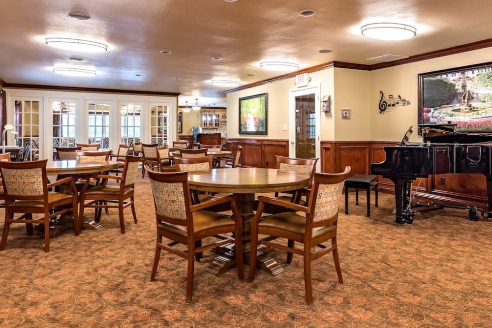 Clubhouse at Pacifica Senior Living Heritage Hills in Hendersonville, North Carolina
