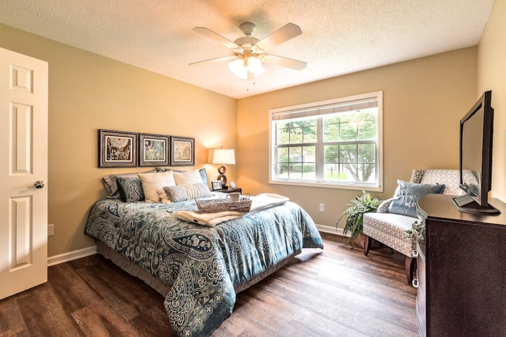 Bedroom Model House at Pacifica Senior Living Heritage Hills in Hendersonville, North Carolina