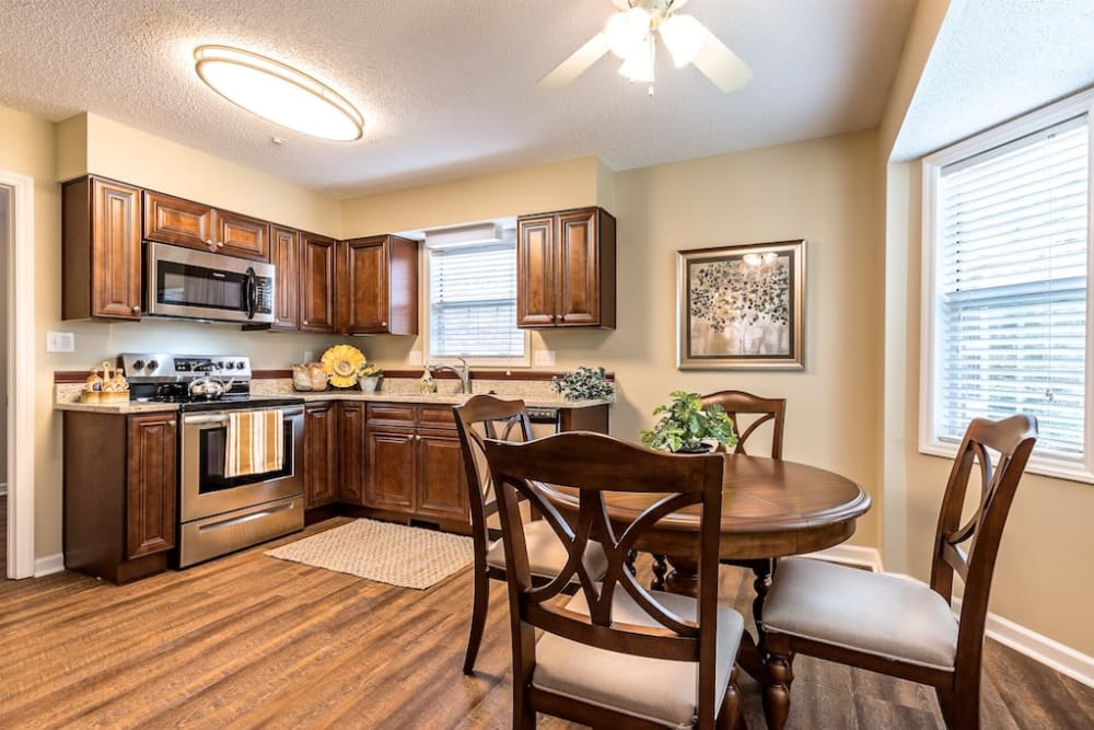 Kitchen Model House at Pacifica Senior Living Heritage Hills in Hendersonville, North Carolina