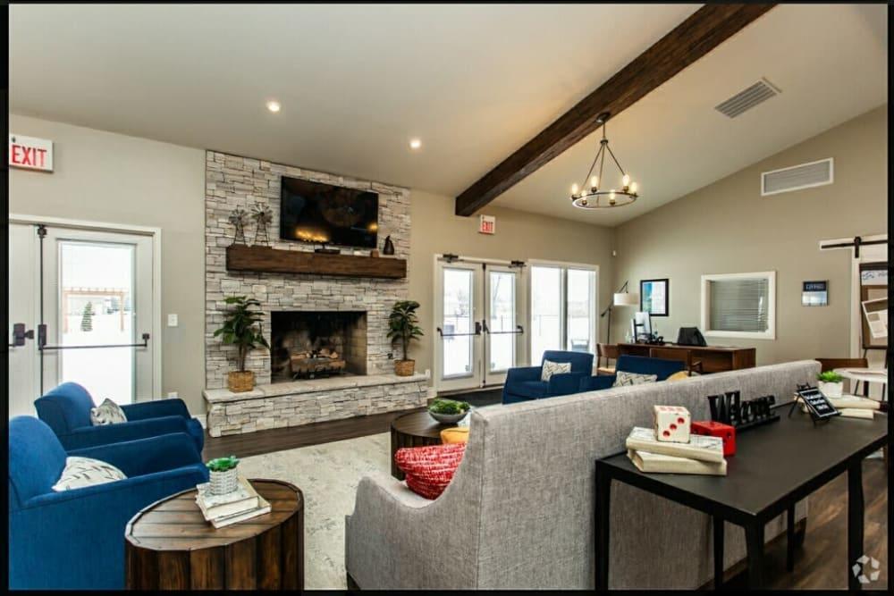 Model living room at Worthington Meadows in Columbus, Ohio