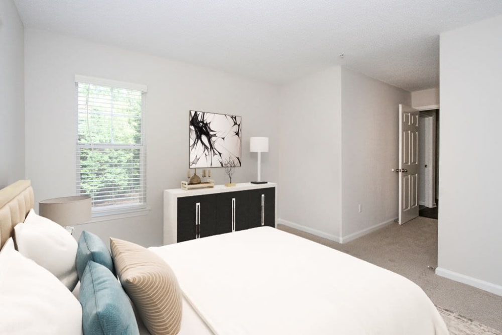 Model Bedroom at Palmetto Place in Fort Mill, South Carolina