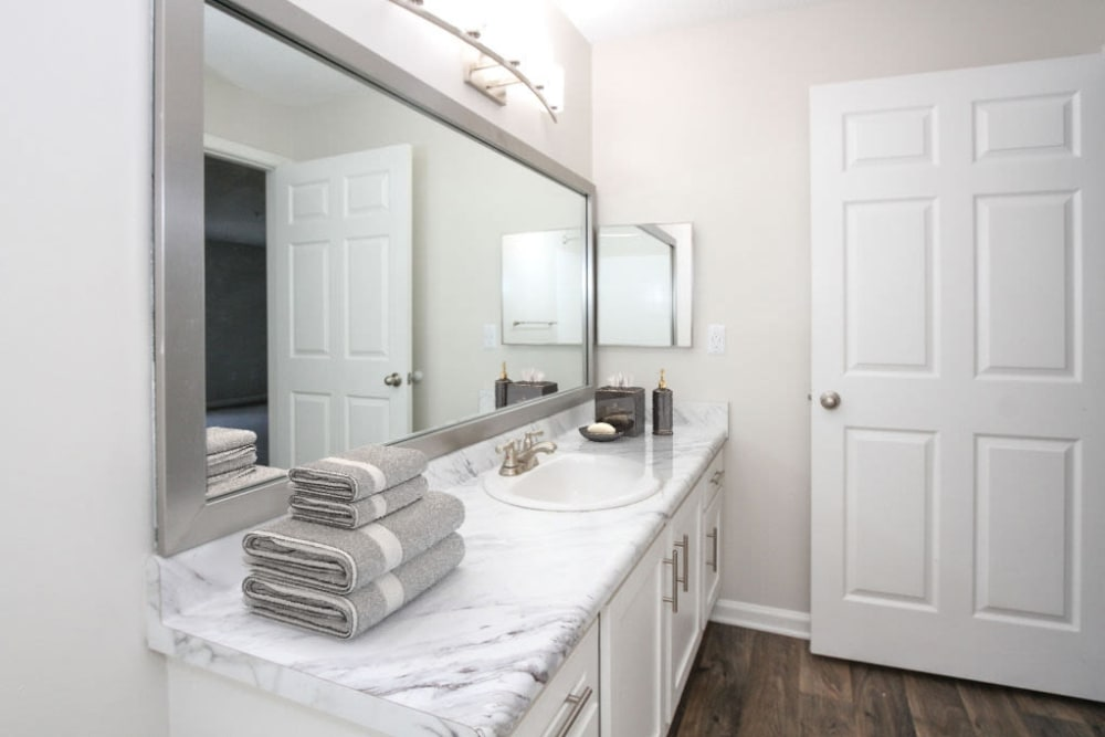 Model bathroom at Palmetto Place in Fort Mill, South Carolina
