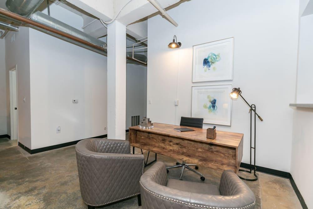 Open workspace at Lofts at Riverwalk in Columbus, Georgia