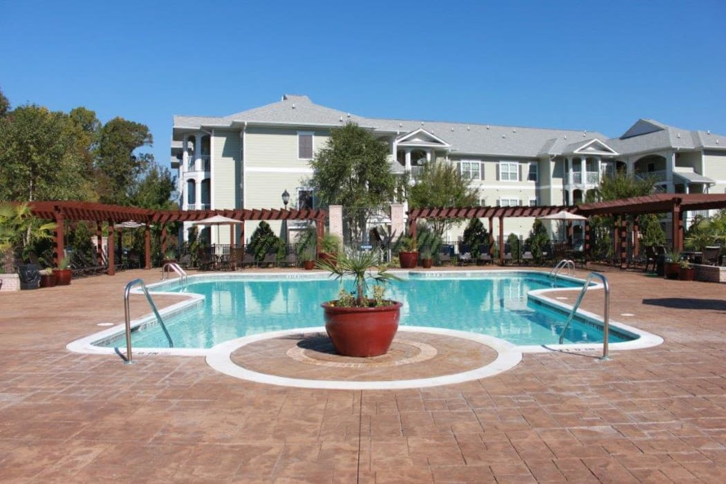 Beautiful pool at Delaney Apartment Homes in Concord