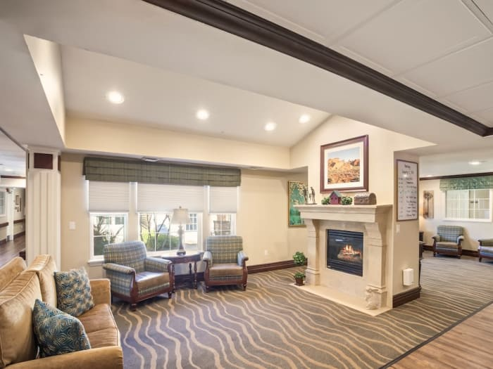Lounge at senior living facility in Las Vegas, Nevada
