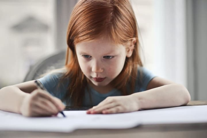 Parents create designated homework space for back to school organization