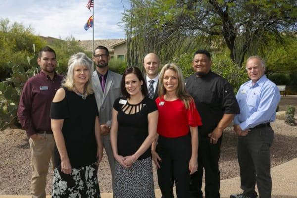 The friendly team at Mountain View Retirement Village in Tucson, Arizona