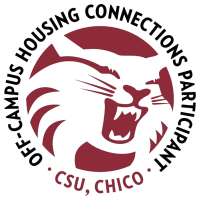 Off campus logo at 7th Street Manor in Chico, California