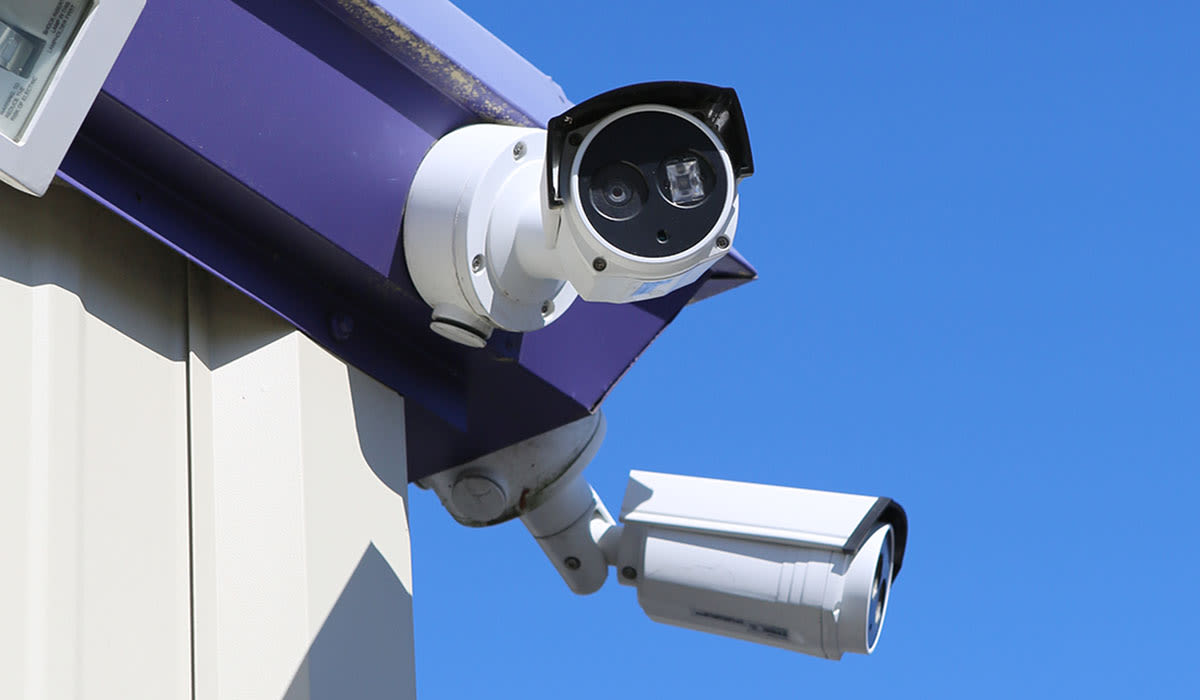 Security camera at StoreSmart Self-Storage in Charleston, South Carolina