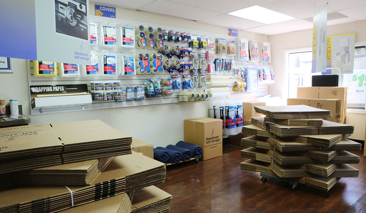Moving supplies for sale at StoreSmart Self-Storage in Charleston, South Carolina
