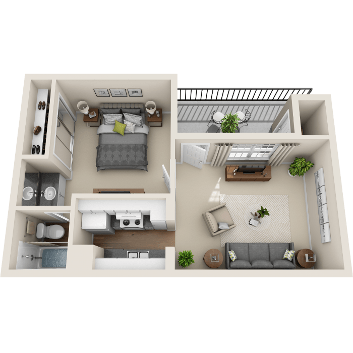 1 Bedroom Floor Plan - A1