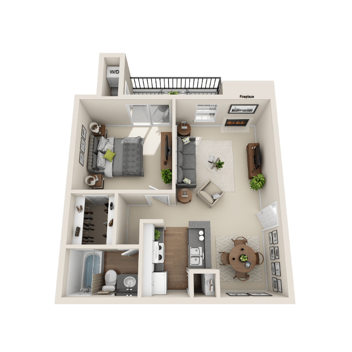 1 Bedroom Floor Plan - A2