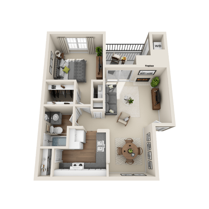 1 Bedroom Floor Plan - A3