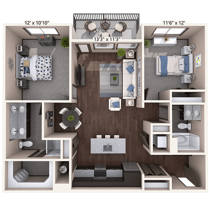 Spacious 2 bedroom home at Timnath Trail at Riverbend Apartment Homes near Windsor, CO