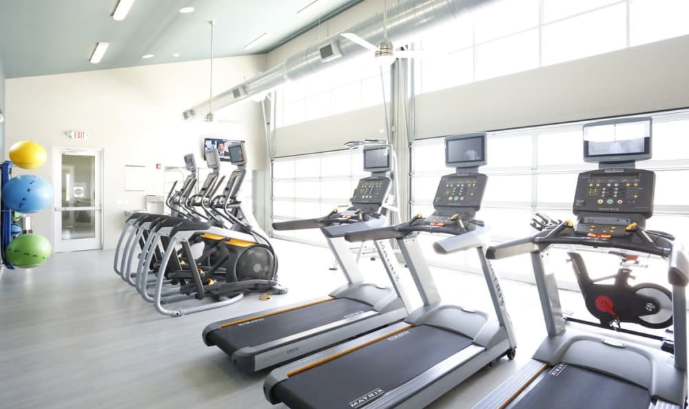 fitness center at Springs at Country Club Apartments in Lake Charles, LA