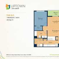 The DC floor plan image at Uptown Ann Arbor in Ann Arbor, Michigan