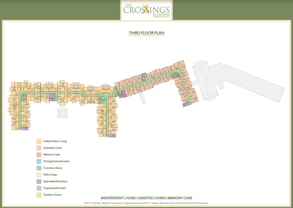 View the 3rd floor plan at The Crossings at Eastchase in Montgomery, Alabama.
