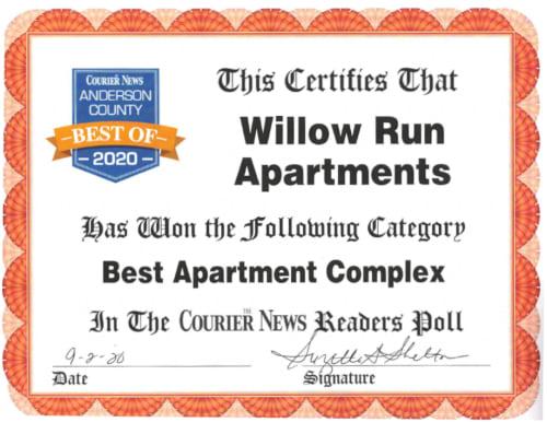 Best Apartment Complex Award