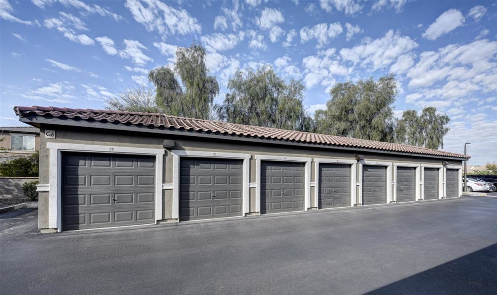 Separate garages available at The Highlands at Spectrum in Gilbert, AZ