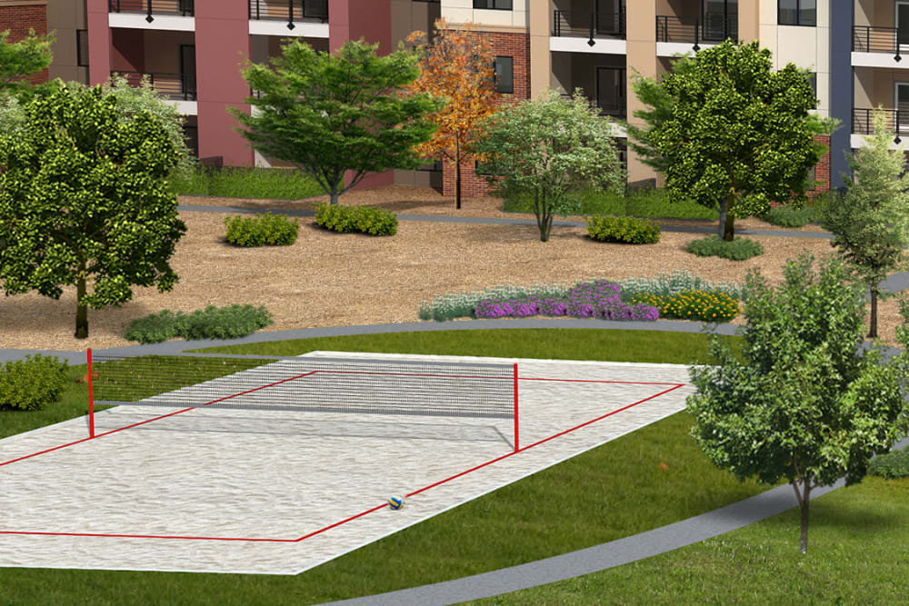 Volleyball court at The Crossing at Cooley Station in Gilbert, Arizona