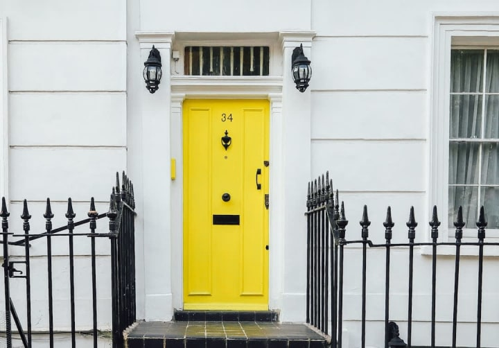 brightly painted front door to add appeal