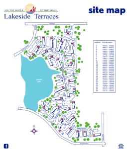 Site Map of Lakeside Terraces
