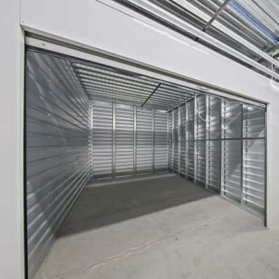 An open climate-controlled unit at Storage Star Napa in Napa, California