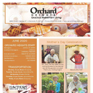 June newsletter at Orchard Heights Gracious Retirement Living in Clermont, Florida