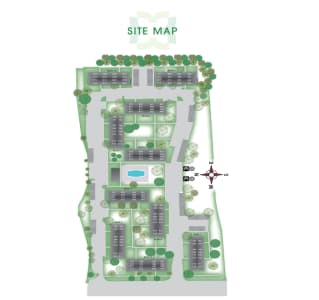 Site map at Kensington Manor Apartments