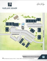 Site map of Garland Square in Norman, Oklahoma