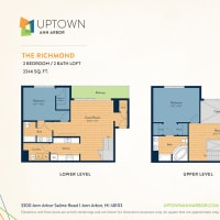 The Richmond floor plan image at Uptown Ann Arbor in Ann Arbor, Michigan