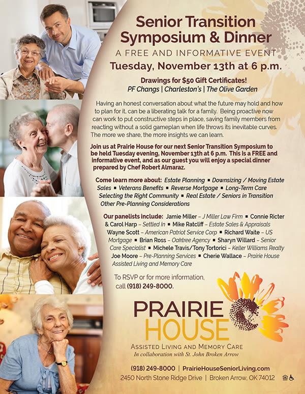 Prairie House hosts a Senior Transition Symposium on November 13th