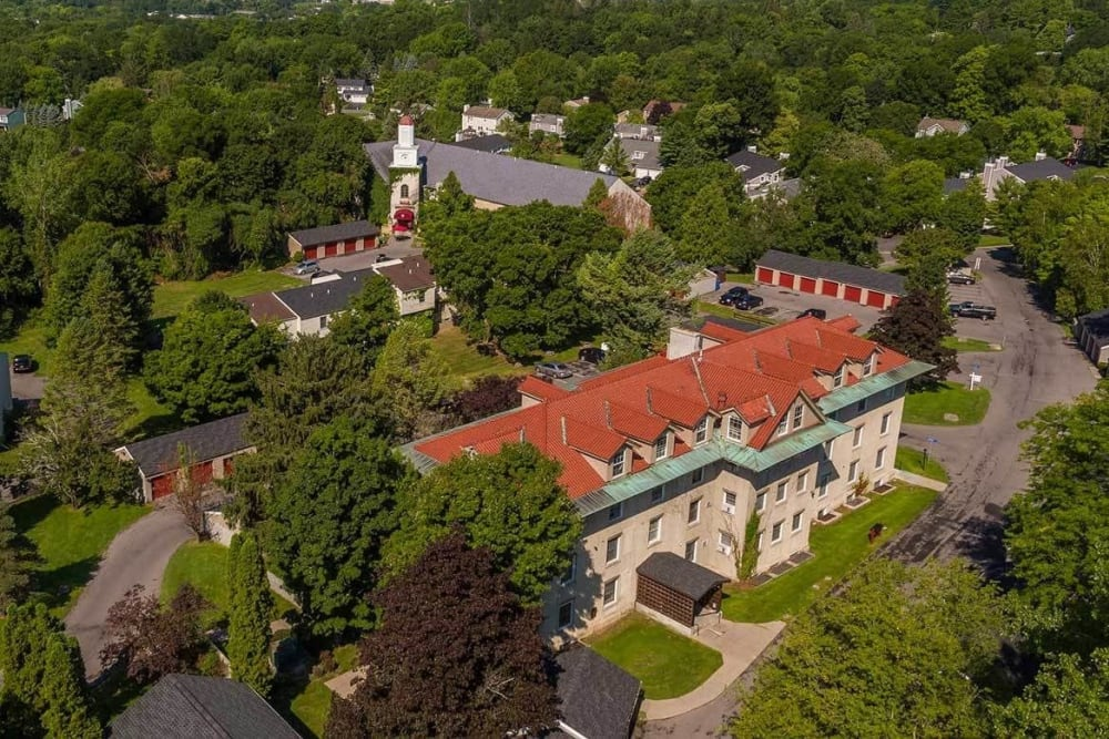 Aerial view of our apartment community at Manlius Academy in Manlius, New York