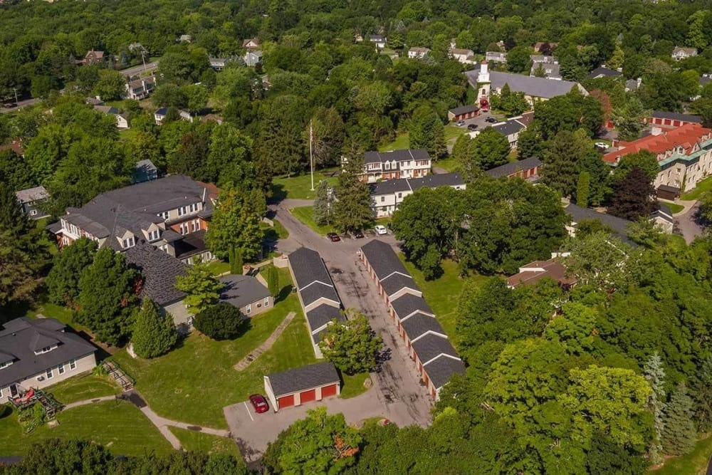 Aerial view of the community at Manlius Academy in Manlius, New York