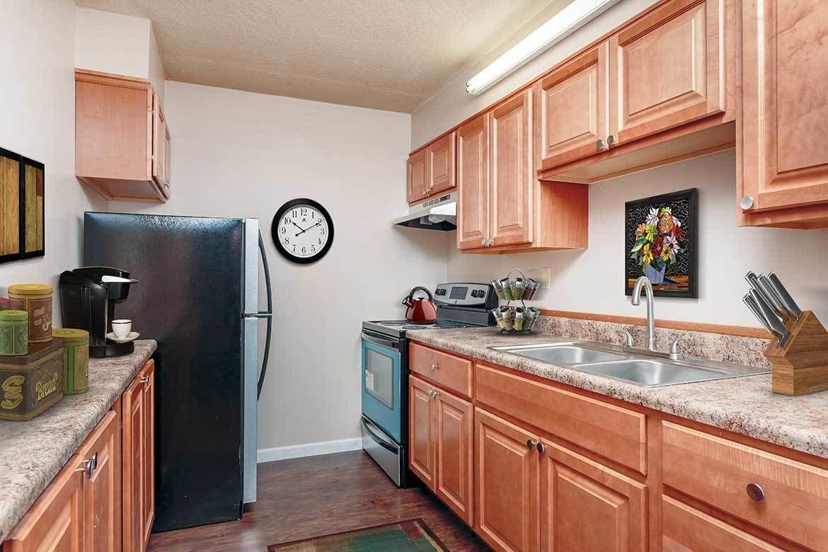 Beautiful kitchen at Towers on the Hudson in Troy, New York