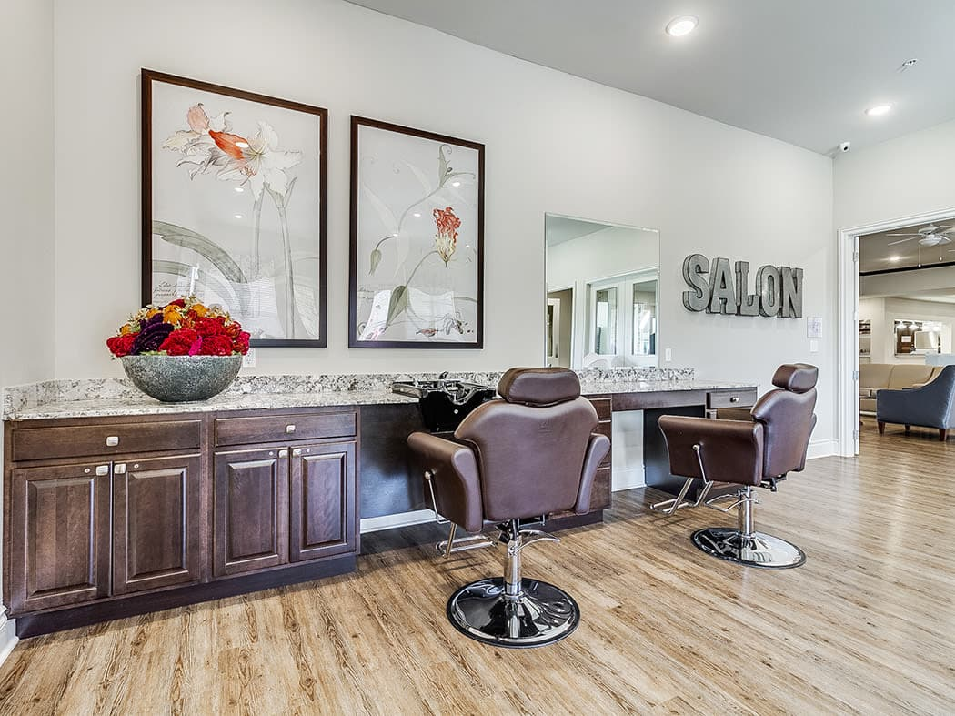 Beauty salon at Iris Memory Care of Edmond