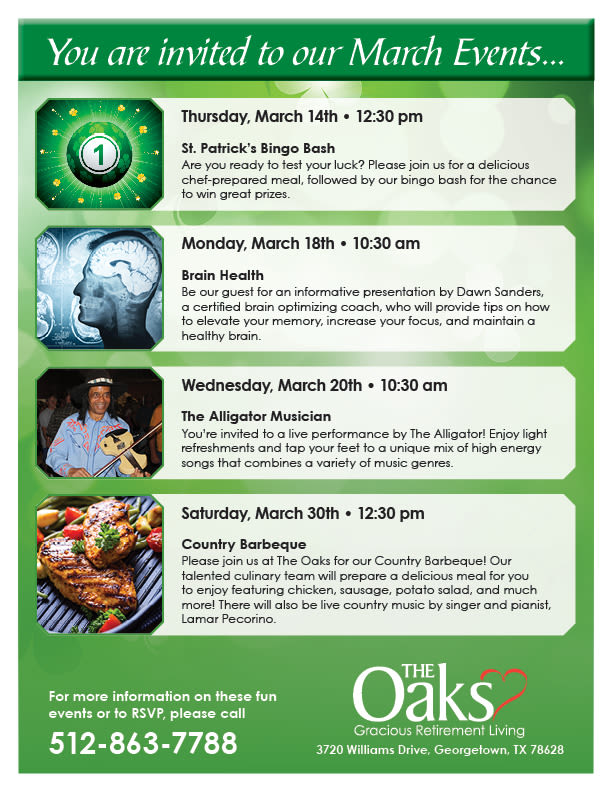Open event at The Oaks Gracious Retirement Living.