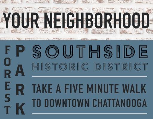 View the neighborhood near Bluebird Row in Chattanooga, Tennessee