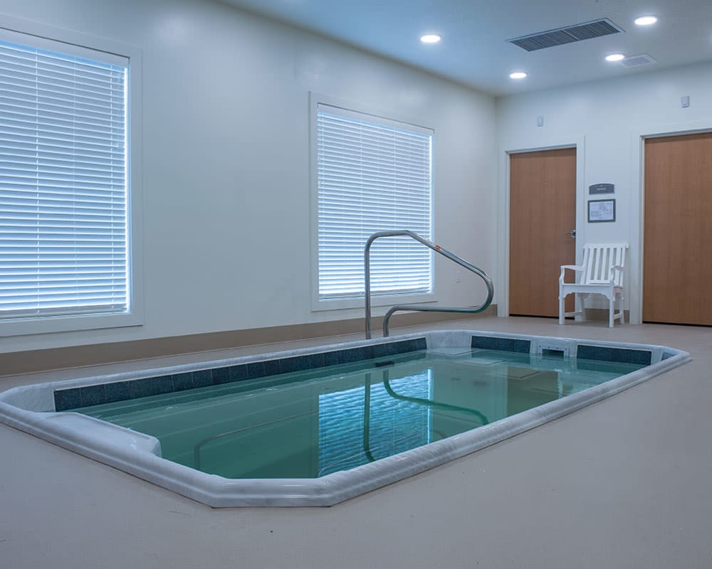 Therapy pool Skilled nursing building at Heritage Health Care in Chanute, Kansas