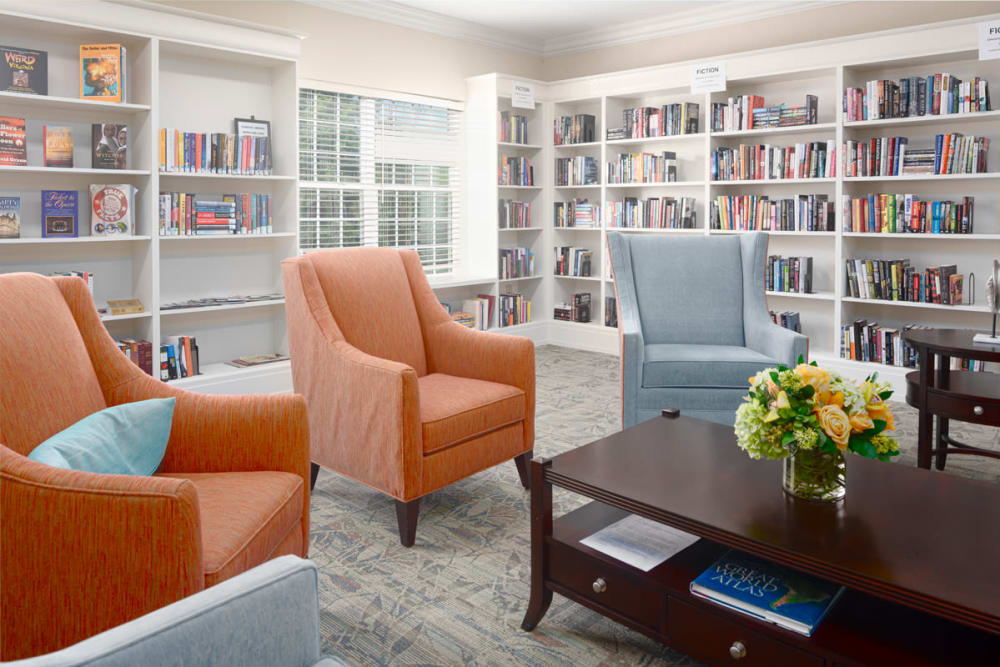 Library at Harmony at Chantilly in Herndon, Virginia