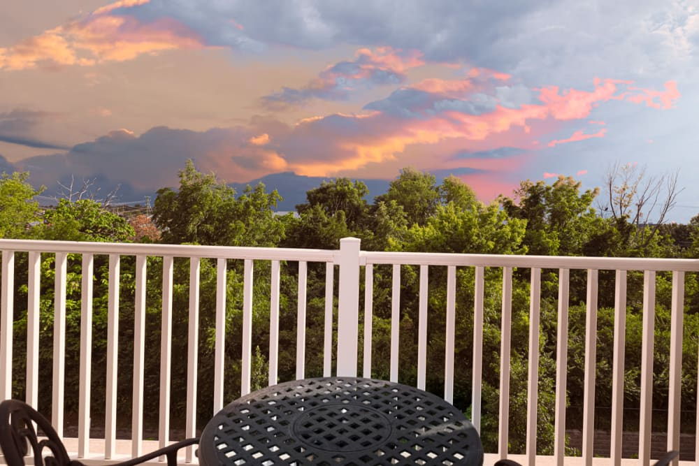 View from an apartment balcony at Harmony at Chantilly in Herndon, Virginia