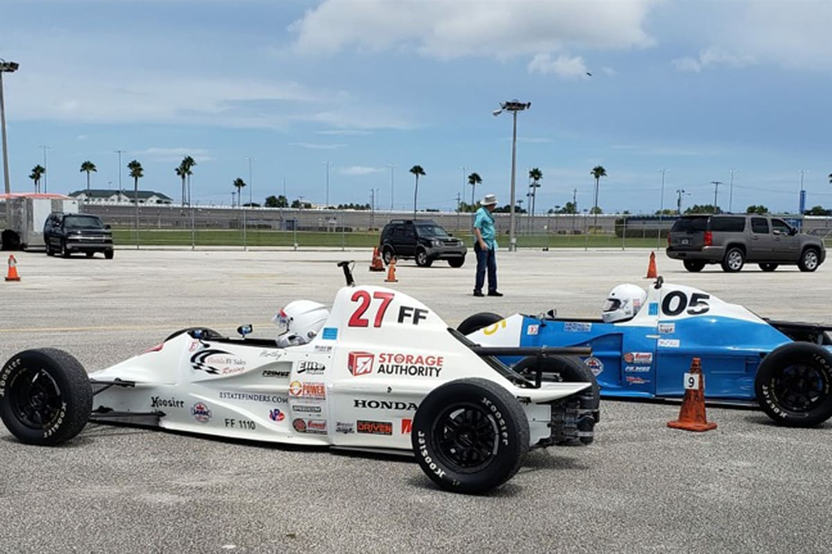 Race cars in Mulberry, Florida