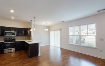 Virtual tour of a three bedroom apartment at Union Square Apartments in North Chili, New York