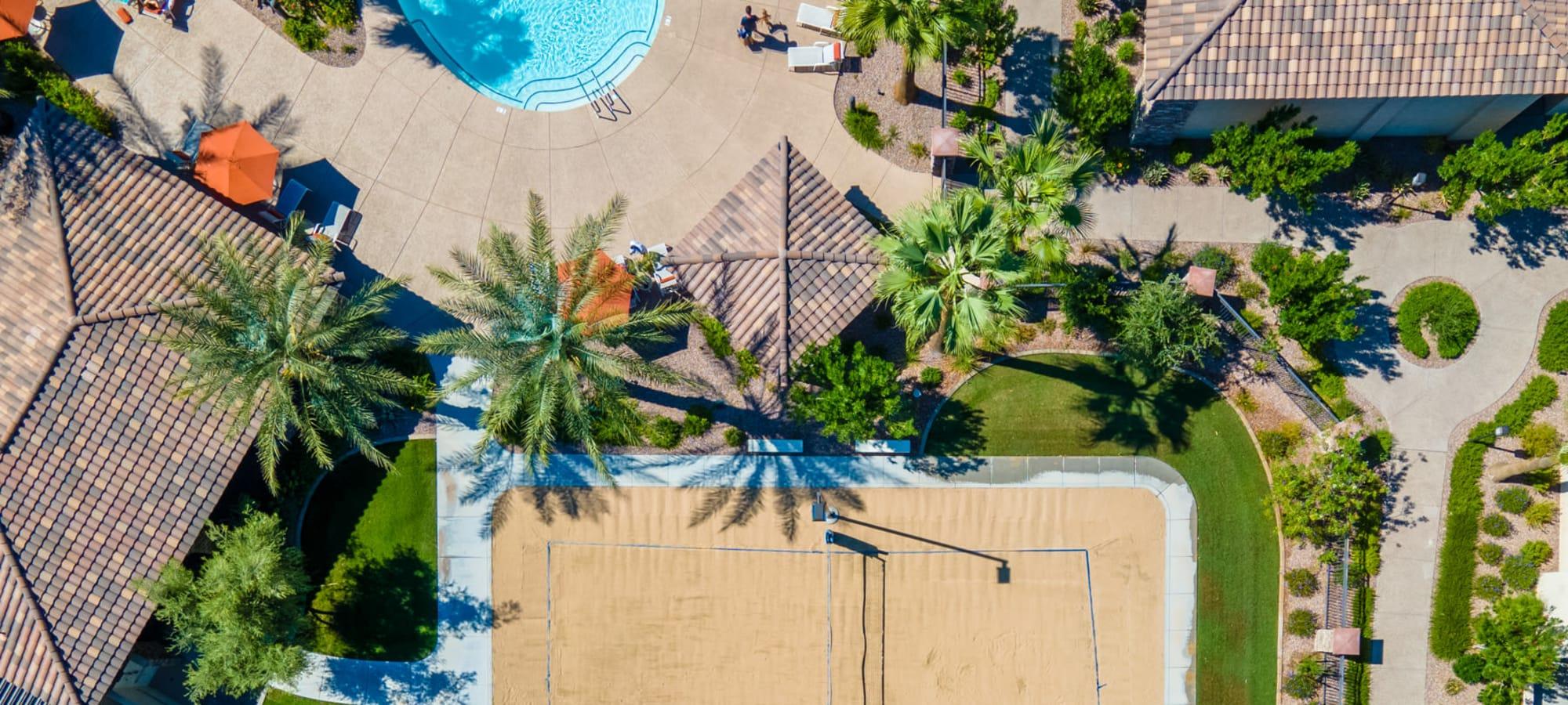 Sand volleyball court at San Milan in Phoenix, Arizona
